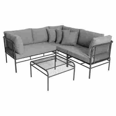 Lounge-Set 'Toulouse' Metall grau, 3-teilig
