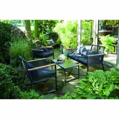 Lounge-Set 'Anni' schwarz 4-teilig