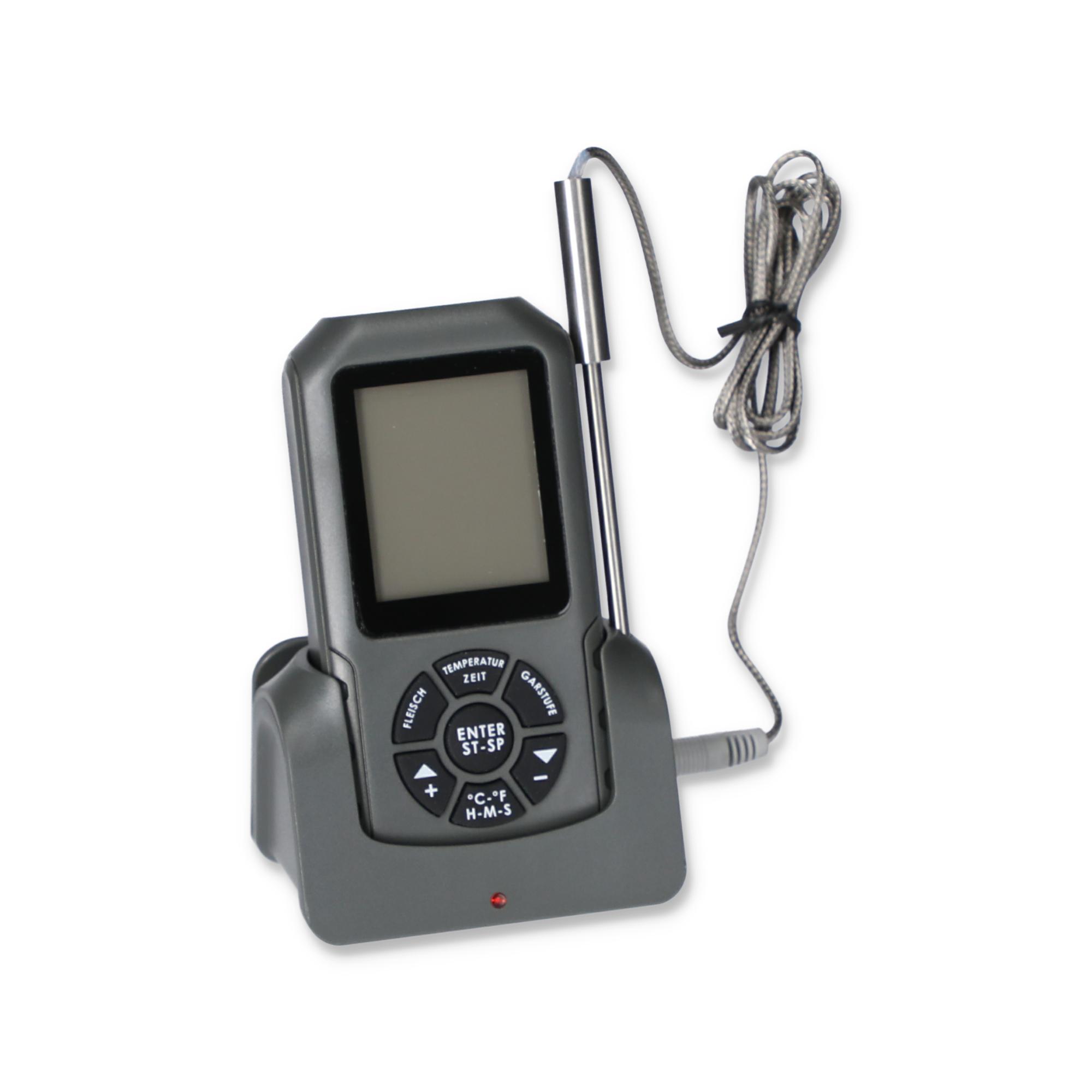 toom Grillthermometer digital schwarz 11 x 5,8 cm