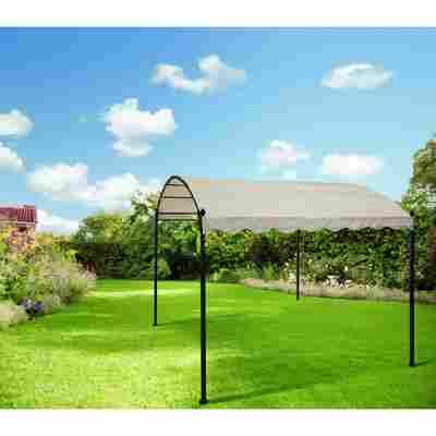 Metallpavillon 'Pauline' beige-schwarz 300 x 257 x 300 cm