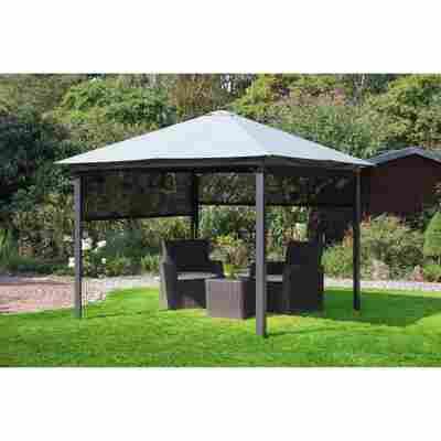 Solarpavillon 'Lina' grau-schwarz 300 x 270 x 300 cm