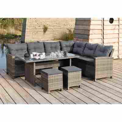 Lounge-Set 'Melina' grau 5-teilig, links