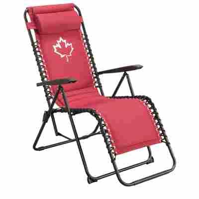 Camping-Relaxliegestuhl 'Kanada' rot 65 x 113 cm
