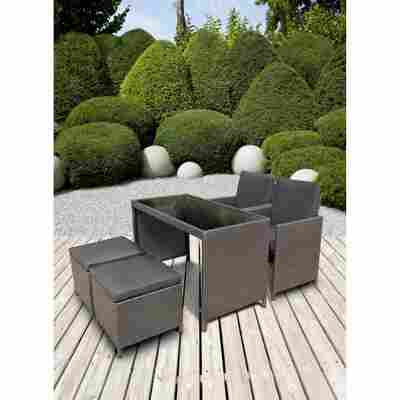 Gartenmöbel-Set 'Sansibar' anthrazit/grau, 5-teilig