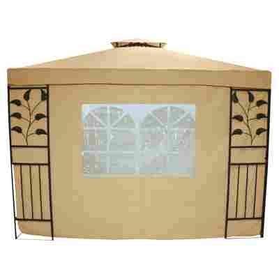 Seitenteile für Pavillon 'Livorno' beige, 2er-Set mit Fenster