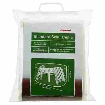 Standard Schutzhülle für Möbelgruppe PE-Bändchengewebe transparent Ø 180 x 95 cm