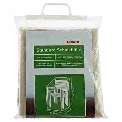 Standard Schutzhülle für Stapelstühle PE-Bändchengewebe transparent 75 x 60 x 150 cm