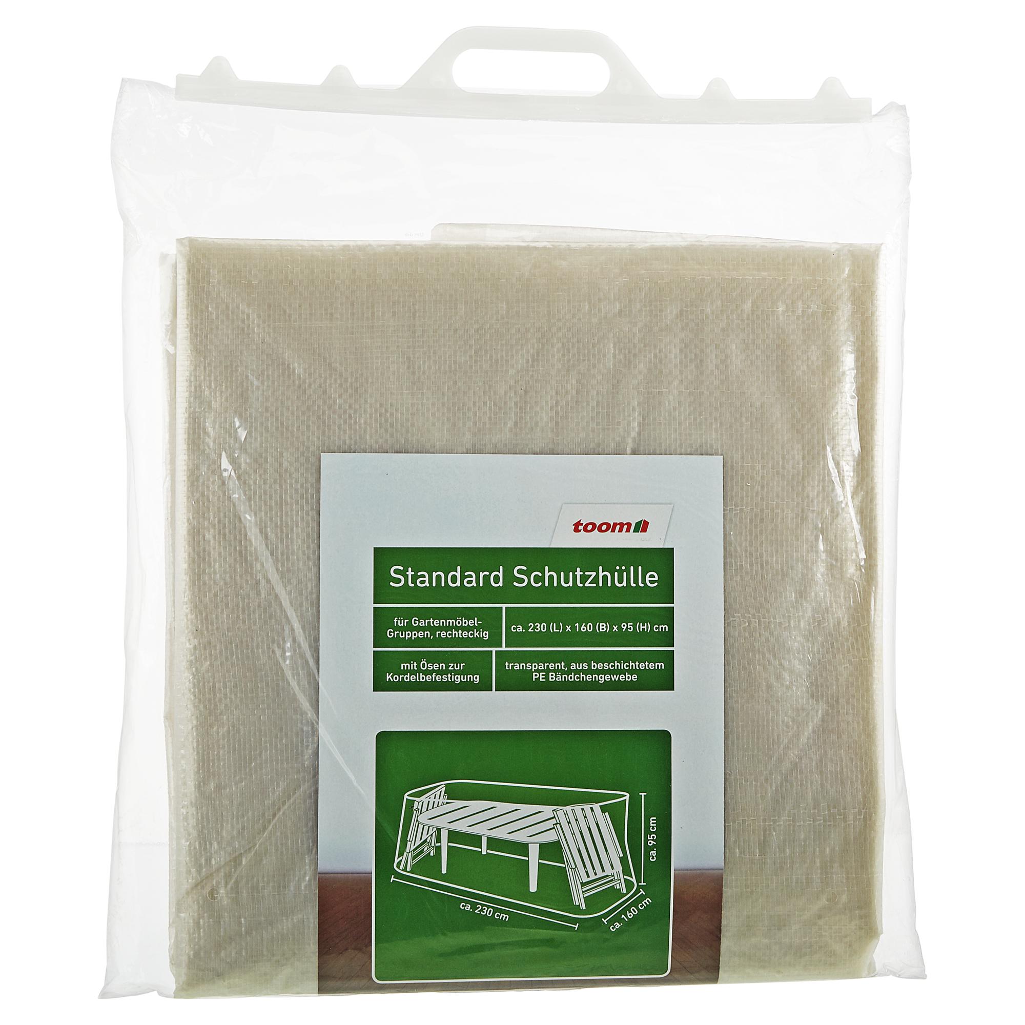 Toom Standard Schutzhülle Für Möbelgruppen PE Bändchengewebe Transparent  230 X 160 X 95 Cm .