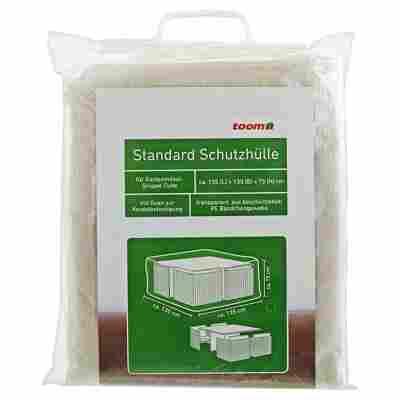Standard Schutzhülle für Möbelgruppe 'Cube' PE-Bändchengewebe transparent 135 x 135 x 75 cm