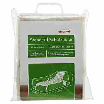 Standard Schutzhülle für Gartenliegen PE-Bändchengewebe transparent 200 x 75 x 40 cm