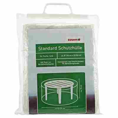 Standard Schutzhülle für runde Tische PE-Bändchengewebe transparent Ø 120 cm x 75 cm