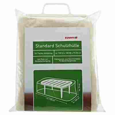 Standard Schutzhülle für Tische PE-Bändchengewebe transparent 150 x 100 x 75 cm