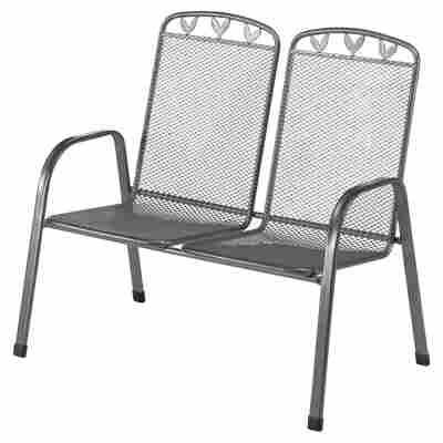 Gartenbank 'Toulouse' 2-Sitzer grau 108 x 98 x 68 cm