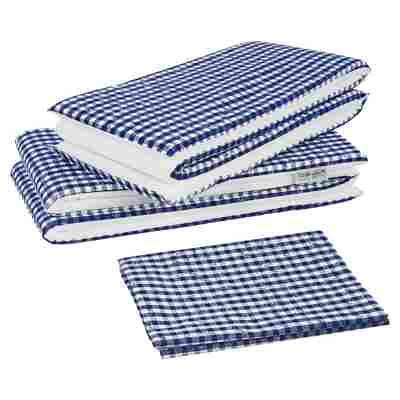 Auflagen-Set für Bierzeltgarnituren blau/weiß 240 x 100 cm, 3-teilig
