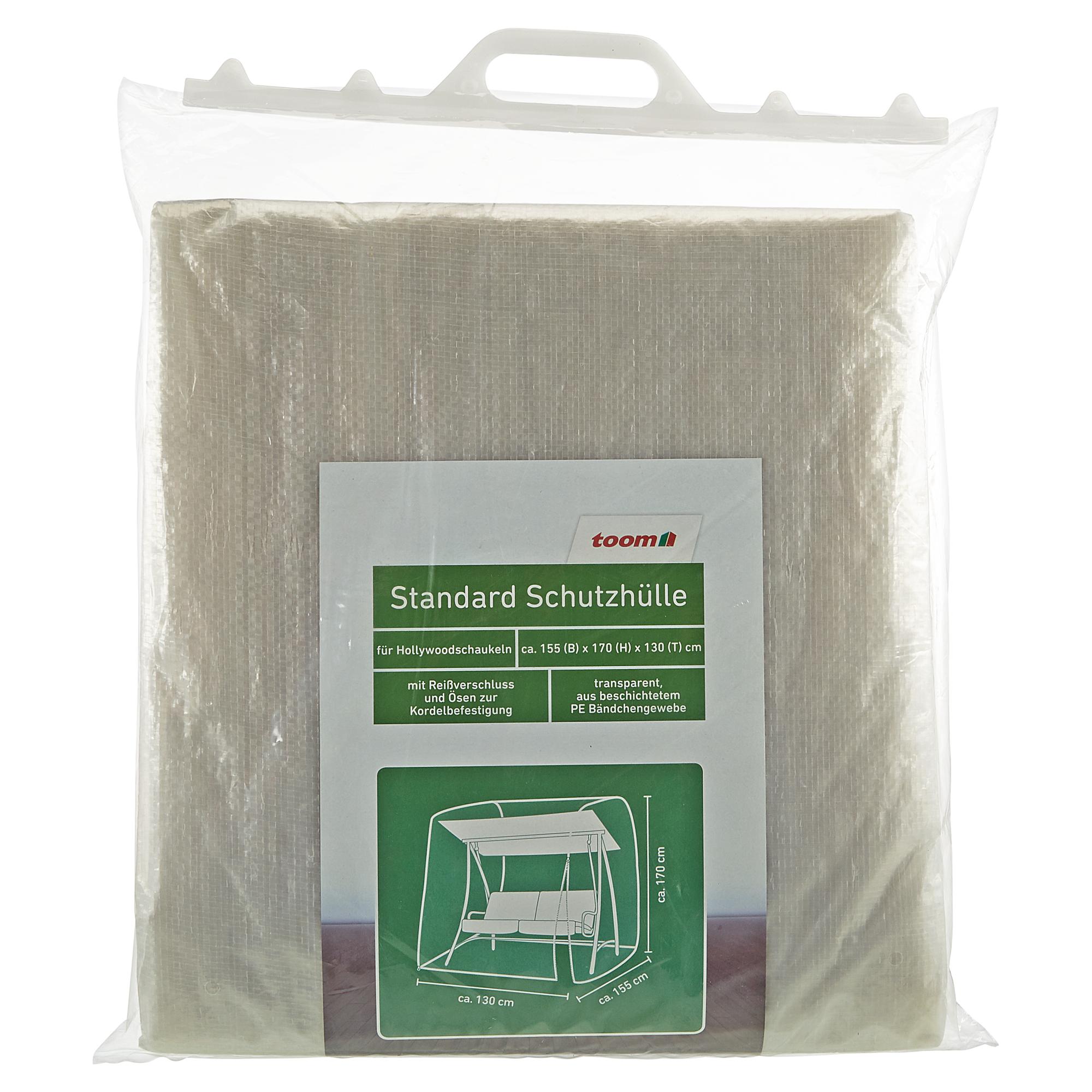 Toom Standard Schutzhülle Für Hollywoodschaukel PE Bändchengewebe  Transparent 155 X 170 X 130 Cm .