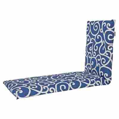 Rollliegen-Wendesaumauflage 'Alghero' blau/weiß 195 x 56 cm