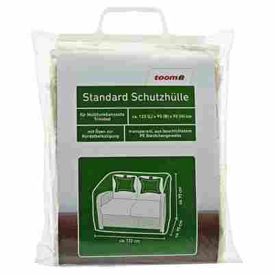 Standard Schutzhülle für Außensofa 'Trinidad' PE-Bändchengewebe transparent 122 x 95 x 95 cm