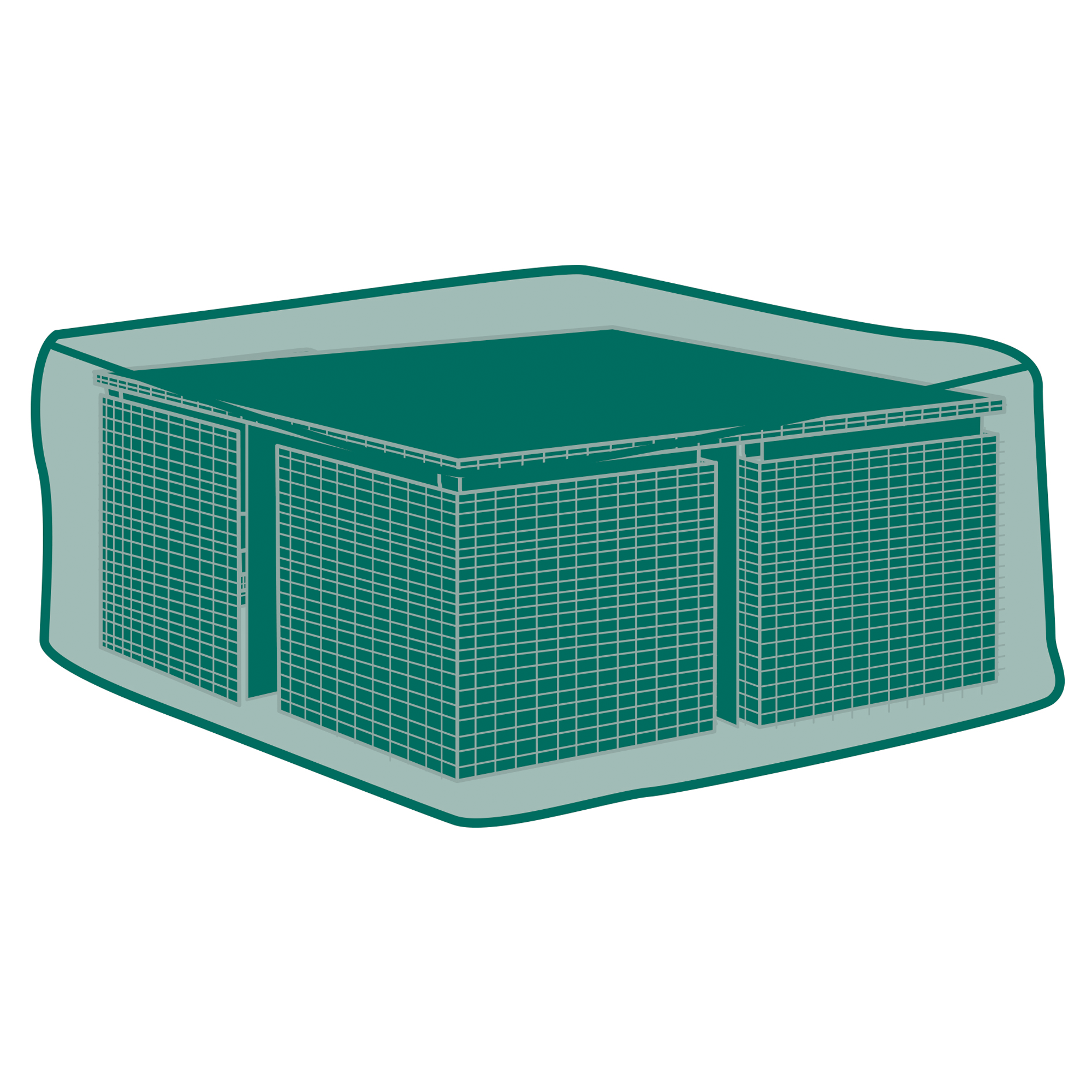 Schutzhulle Fur Gartenmobel Set Cube Transparent 121 X 121 X 74 Cm