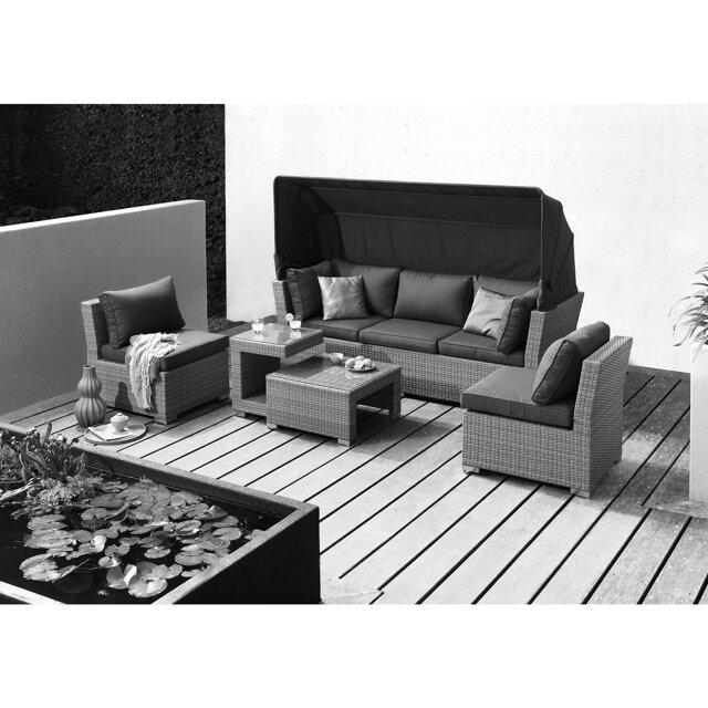 gartenlounge set emily rattan 5 tlg toom baumarkt. Black Bedroom Furniture Sets. Home Design Ideas