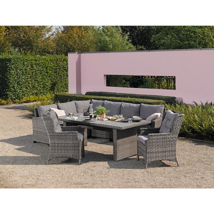 Gartentisch Delia Rattan 210 X 94 X 74 Cm