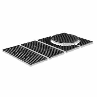 Grillrost 'Switch Grid' Gusseisen 69 x 44,5 x 1 cm schwarz