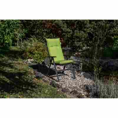 Hochlehner-Auflage 'Turin apfelgrün wasserabweisend 118 x 46 x 8 cm
