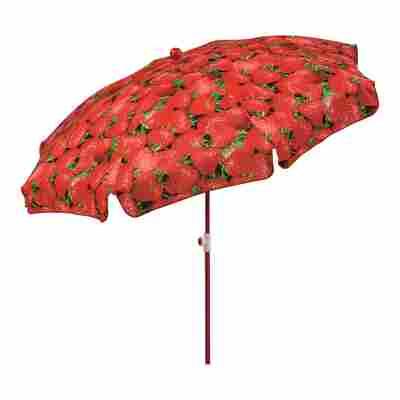 Sonnenschirm 'Rom' Erdbeerenmotiv Ø 200 cm
