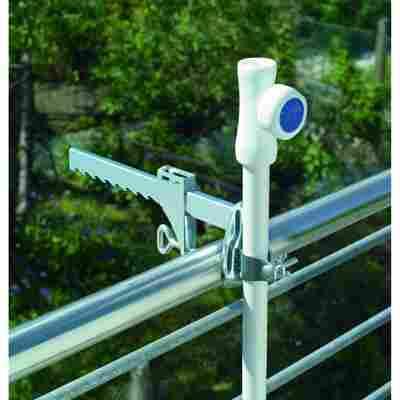 Balkonklammer silbern für Stöcke bis Ø 32 mm
