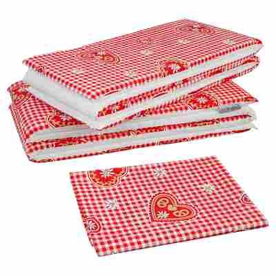 Auflagen-Set für Bierzeltgarnitur rot/weiß 240 x 100 cm, 3-teilig