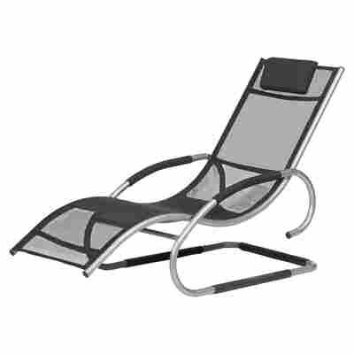 Gartenliege 'Adria Swing' schwarz 146 x 63 x 87,5 cm