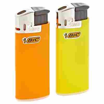 Feuerzeuge Mini elektronisch gelb/orange 2 Stück