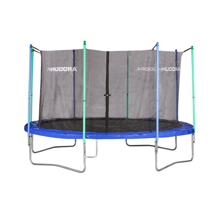 Hudora Fun Trampolin 400 Cm Blau Grun ǀ Toom Baumarkt