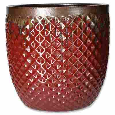 Pflanzenkübel 'Brasil' rot Ø 27 cm