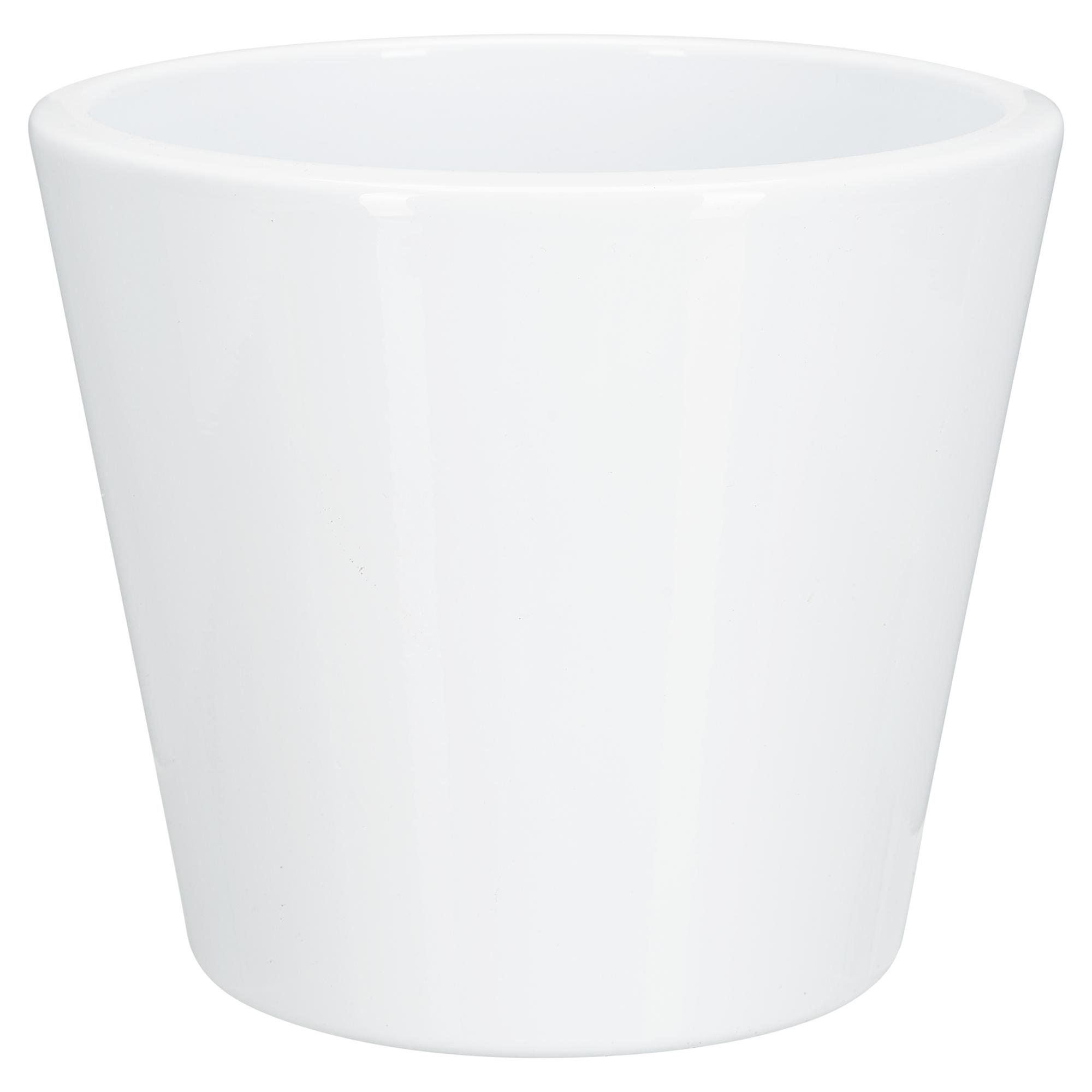 """Übertopf """"Torino"""" Keramik reinweiß Ø 19 cm ǀ toom Baumarkt"""