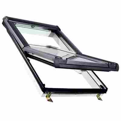 Kunststoff-Dachfenster 'KB3.0 ESG' 74 x 118 cm anthrazit