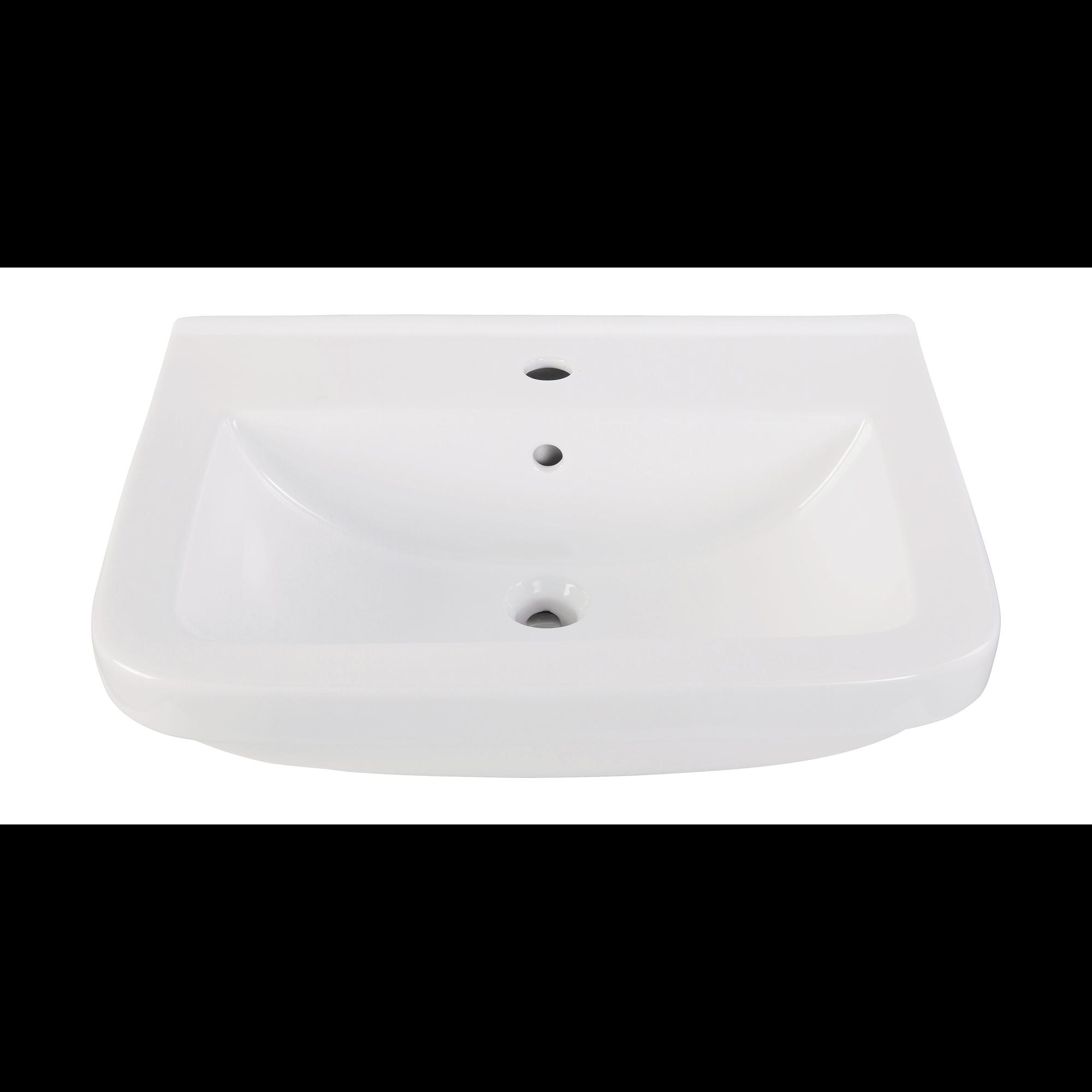 Image of AquaSu Waschtisch Quadra 45 cm, weiß mit Clean-Glasur