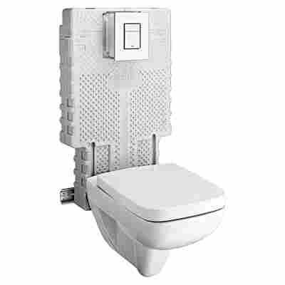 Wand-WC-Set Tiefspüler reinweiß 6-tlg.