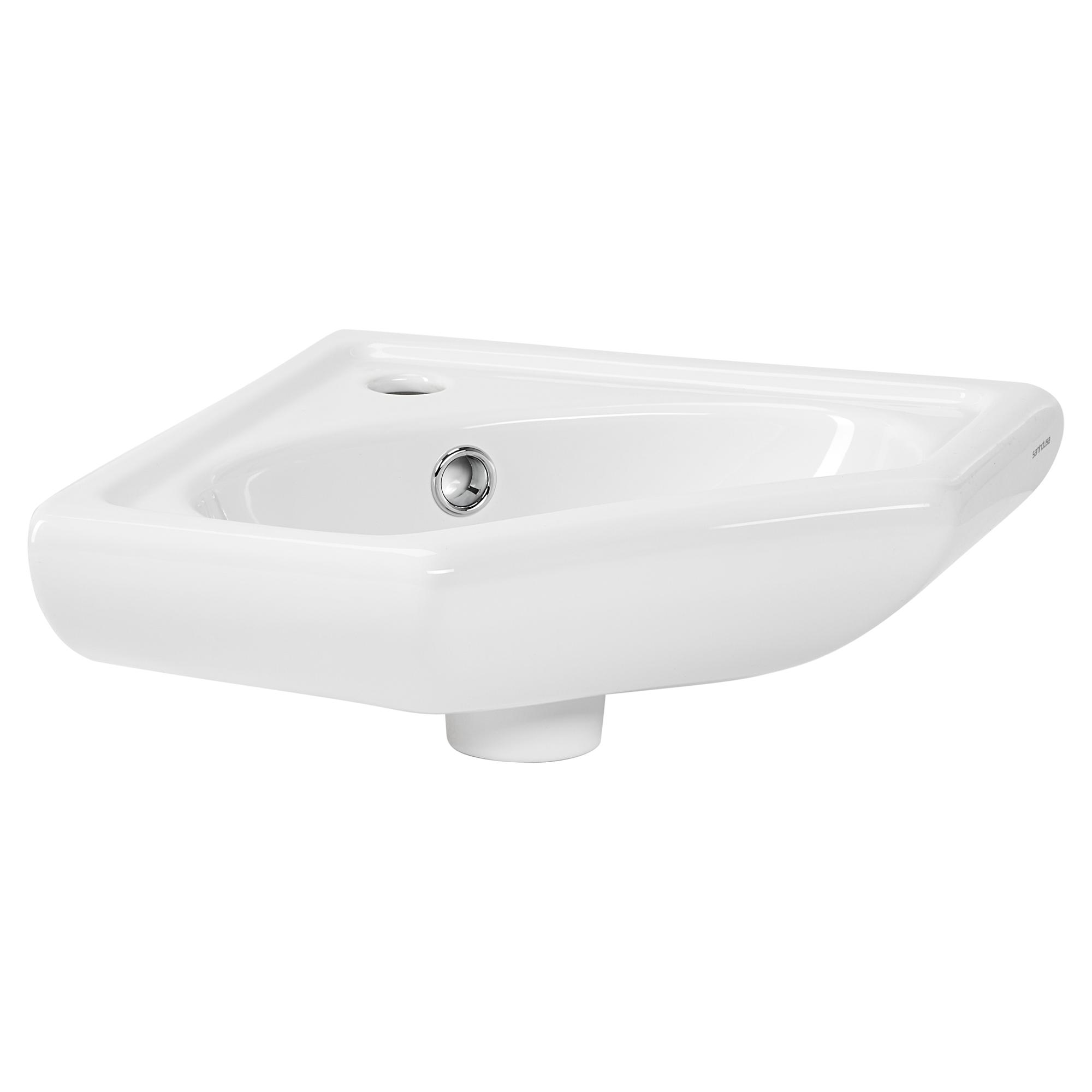 "Eck Handwaschbecken ""Scalma"" Keramik weiß 34 cm ǀ toom"