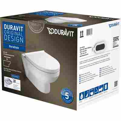 Wand-WC-Set 'Durastyle Basic' spülrandlos weiß inkl. Sitz