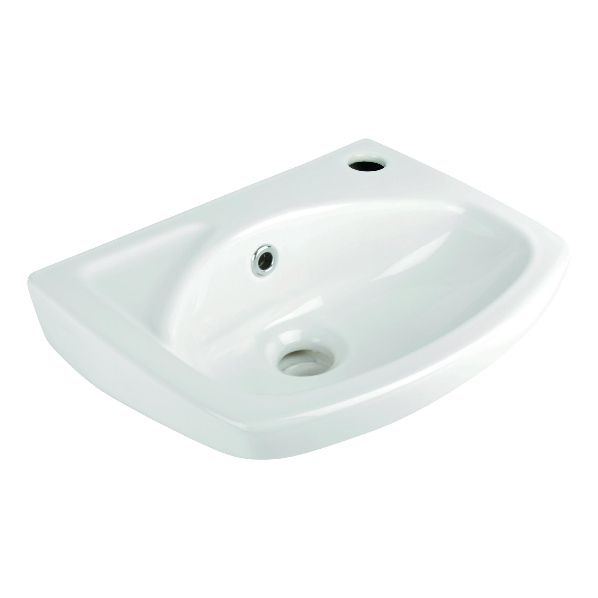Image of AquaSu Lucanti Handwaschbecken 35 cm, Weiß
