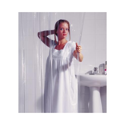 Duschvorhang 'Brillant' Folie 240×180 cm, transparent