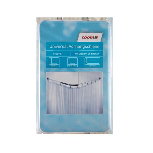 Vorhangschiene weiß 90 x 90 cm