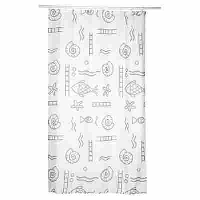 Duschvorhang Textil Neptun 120 x 200 cm