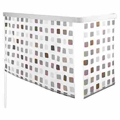Eckduschrollo grau 240 x 132 x 56 cm