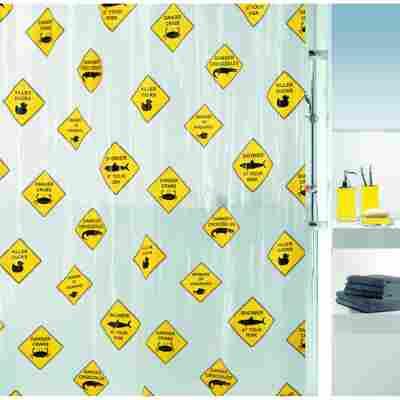 Duschvorhang Danger 180 x 200 cm