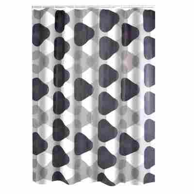 Duschvorhang 'Triangle' Folie 180x200 cm, grau