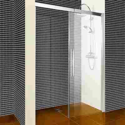Schiebetür 'Beta' für Nische rechts 120 x 190 cm chrom