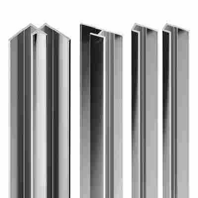 Profil-Set für Duschrückwande 'DecoDesign' Chromoptik, 4-teilig