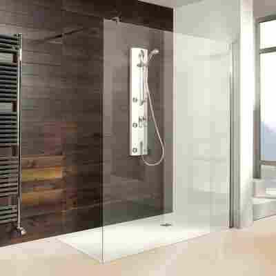 Walk-In 'Entra' Duschwand 140 cm, silber, Klarglas inklusive Beschichtung