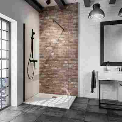 Walk In Dusche 'Alexa Style 2.0 Loft' teilgerahmt, schwarz, 120 x 200 cm, 1-teilig